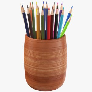 3D real pencil holder