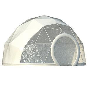3D model tent dome