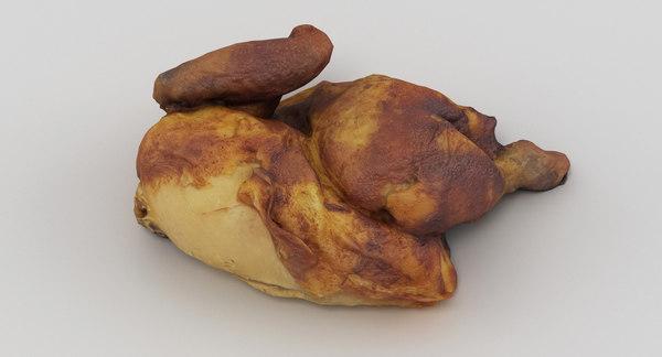 scan roast chicken 3D model