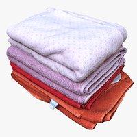 pile towels 3D