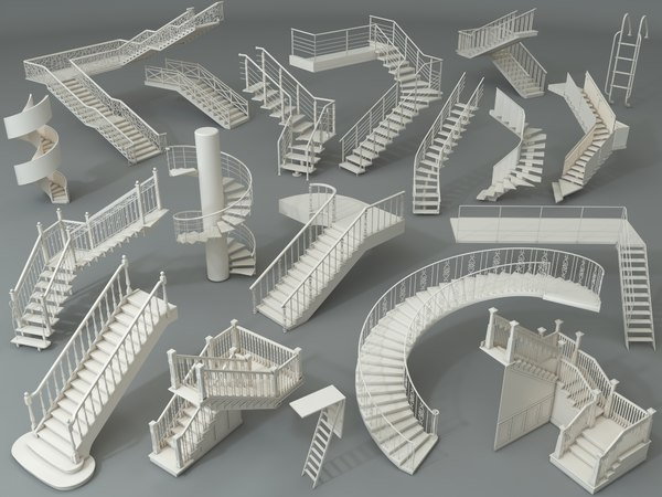 3D staircase stairs architecture model