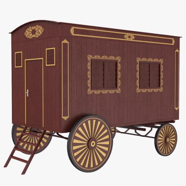 carriage caravan 3D