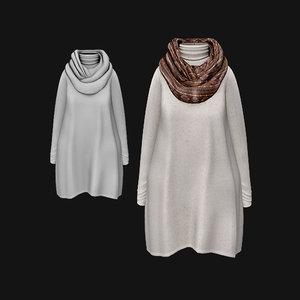 3D dress scarf