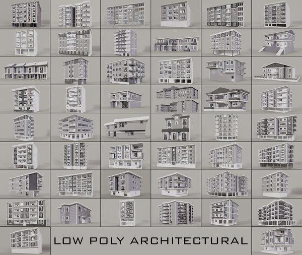 3D buildings housing