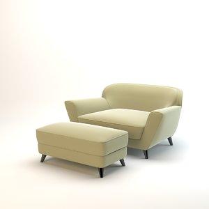 333kmdesignstudio snuggle seat - 3D model