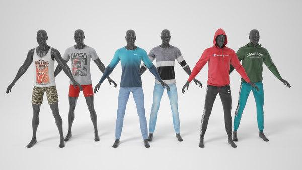 mannequins a-pose clothes model