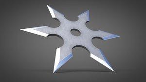 shuriken star 3D model