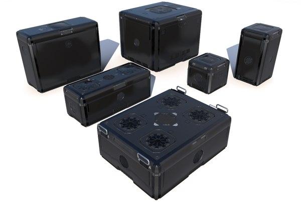 futuristic cargo storage crate 3D