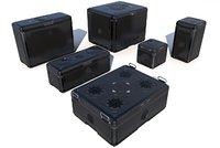 Sci Fi black cargo crates