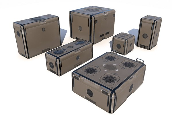 futuristic cargo storage crate 3D model
