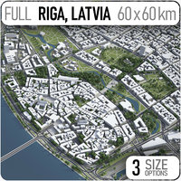 3D riga surrounding -