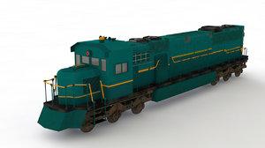 3D diesel locomotive