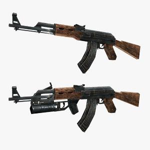 3D ak-47 ak 47 model
