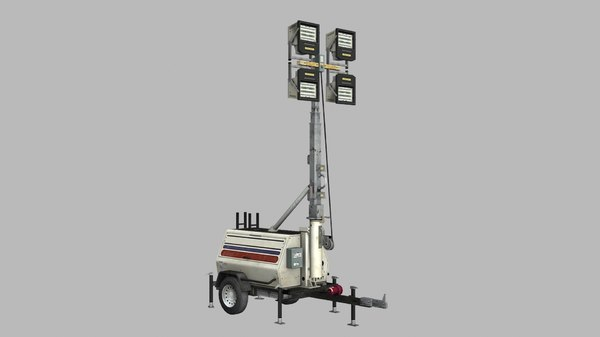 trailer light tower generator 3D model