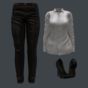 3D female formal set