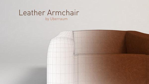 leather armchair 3D