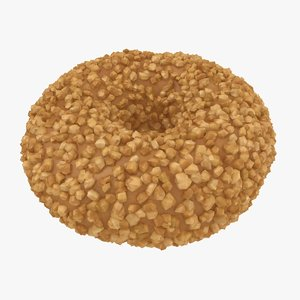 realistic peanut donut model