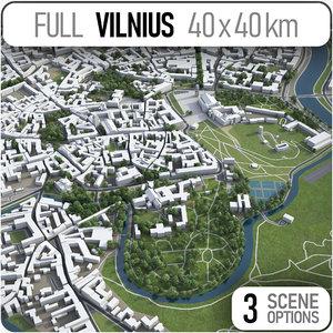 3D model vilnius surrounding -