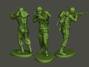 american soldier ww2 shooting 3D