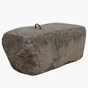3D concrete slab