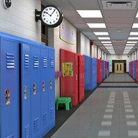 school hallway model
