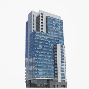 3D kilbourn tower buildings pbr