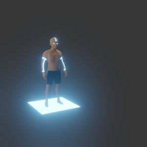 3D aang caracther model