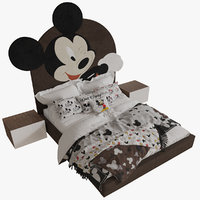 mickey mouse bed 3D model