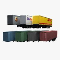 Semi Trailers set