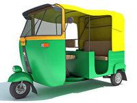 auto rickshaw 3D model