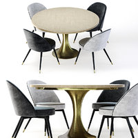 Eichholtz Coope Dining Chair and Melchior Table