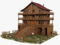 western west wood 3D model