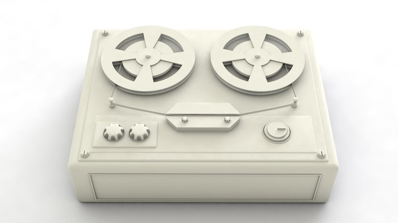 3D model audio recorder