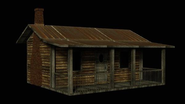 cabin architecture building 3D model