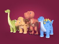 dinosaurs ready 3D model