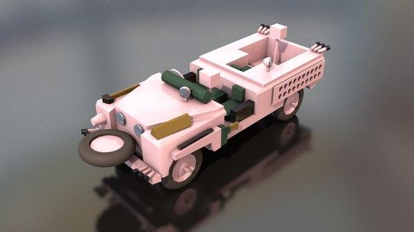 3D land rover pink panther