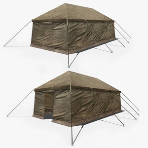 military tent 3D model