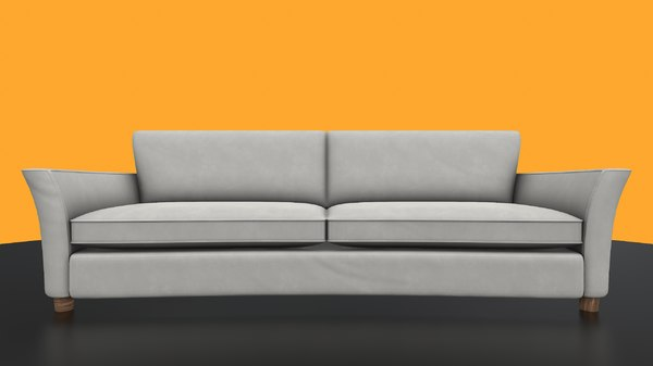 white sofa 3D model