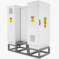 3D model outdoor electrical cabinet