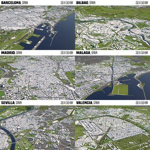 3D 6 cities