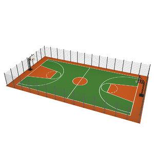 basketball court 3D