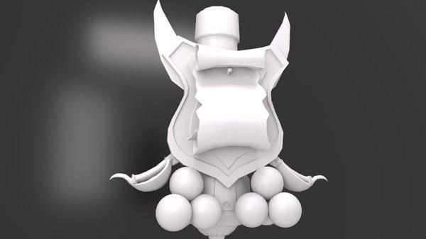 3D model pirate ships figurehead