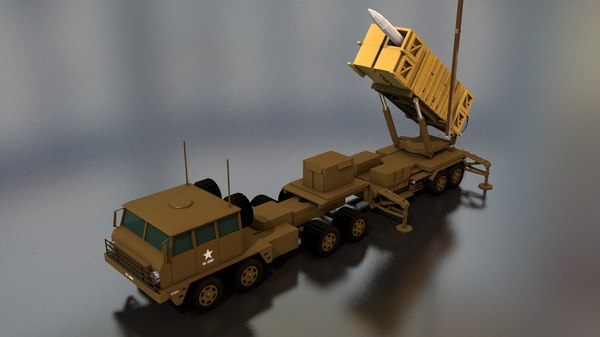 3D mim-104 patriot missile launcher model