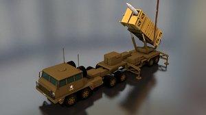 3D mim-104 patriot missile launcher model