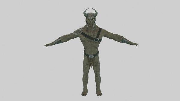 3D battle orc golem pack model