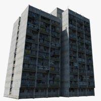 3D model soviet building russia
