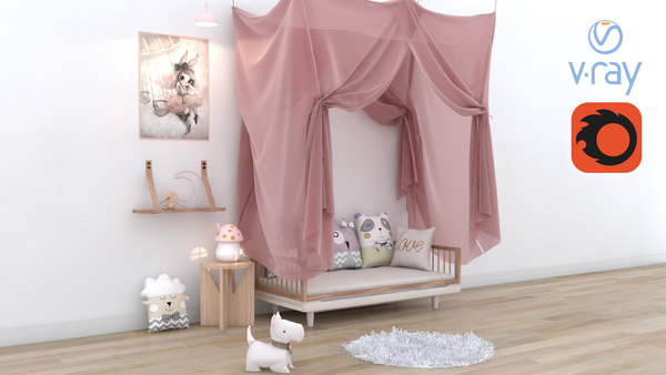 3D children child room