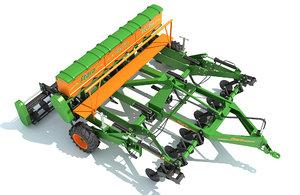 stara seed drill 3D model
