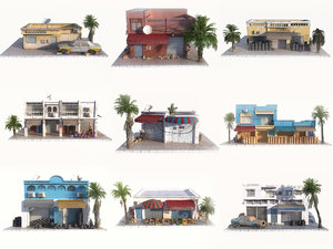 3D model arab city pack 9