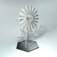 windmill wind 3D